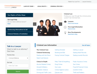 criminaldefenselawyer.com screenshot