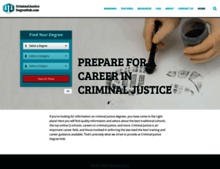 criminaljusticedegreehub.com screenshot