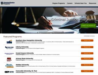 criminaljusticeprograms.com screenshot