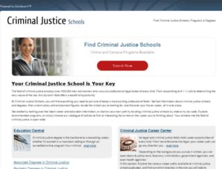 criminaljusticeschools.com screenshot