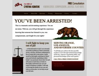 criminallawyeroc.com screenshot