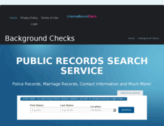 criminalrecordcheckfree.com screenshot