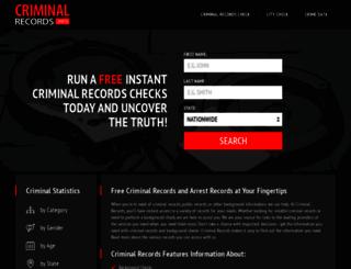 criminalrecords.info screenshot