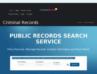 criminalrecordsfree.org screenshot