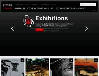 criminocorpus.org screenshot