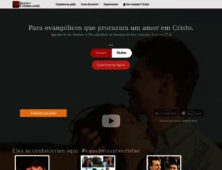 cristao.namoroonline.com screenshot