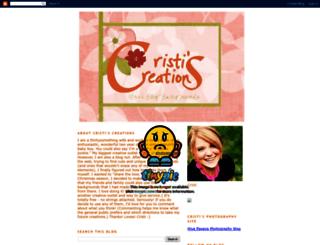 cristiscreations.blogspot.com screenshot