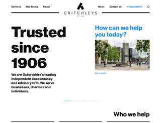 critchleys.co.uk screenshot