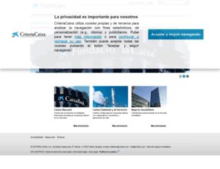 criteriacaixacorp.es screenshot