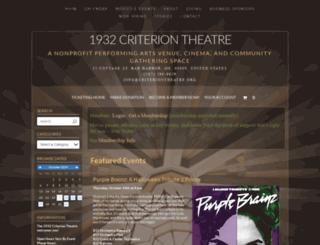 criteriontheatre.showare.com screenshot