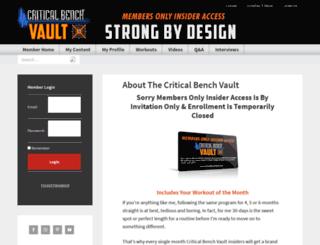 criticalbenchvault.com screenshot