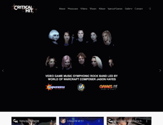 criticalhitband.com screenshot