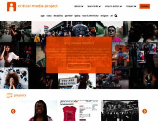 criticalmediaproject.org screenshot