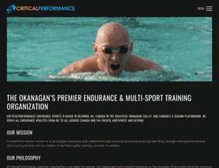 criticalperformance.ca screenshot