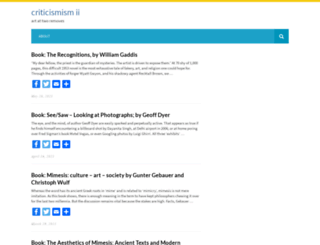 criticismism.com screenshot