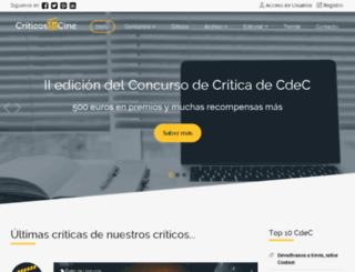 criticosdecine.com screenshot