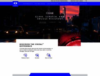 crizal.com screenshot
