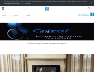 crizal.fr screenshot