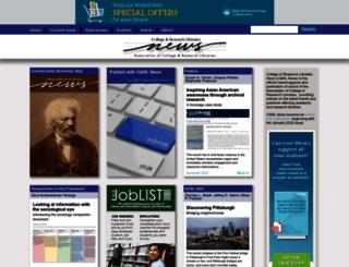 crln.acrl.org screenshot