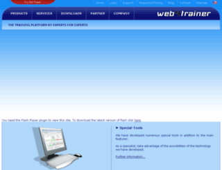 crm.web4trainer.com screenshot