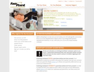crmext.fairpoint.com screenshot