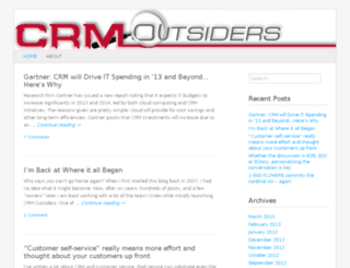crmoutsiders.com screenshot