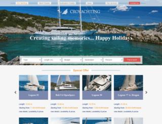 cro-yachting.com screenshot