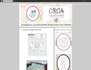 croacreaciones.blogspot.com screenshot