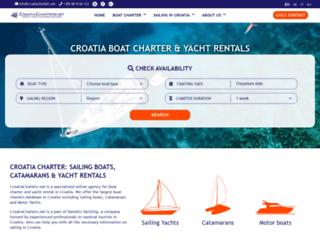 croatiacharters.net screenshot