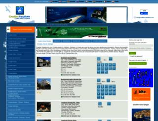croatian-vacations.com screenshot