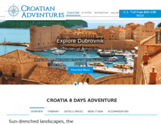 croatianadventures.net screenshot