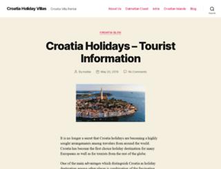 croatiavilla.net screenshot