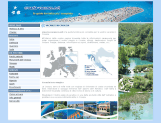 croazia-vacanze.net screenshot