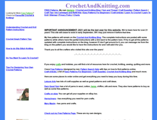 crochetandknitting.com screenshot