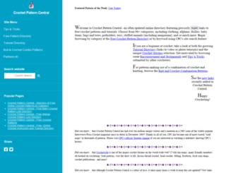 crochetpatterncentral.com screenshot