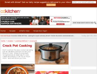 crockpot.cdkitchen.com screenshot