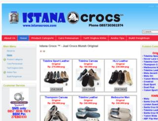 crocs.istanacrocs.com screenshot