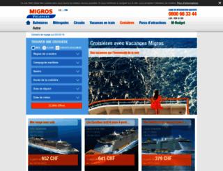 croisieres.vacances-migros.ch screenshot
