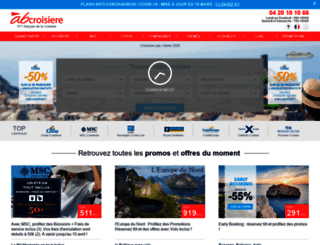 croisieresdefrance.abcroisiere.com screenshot