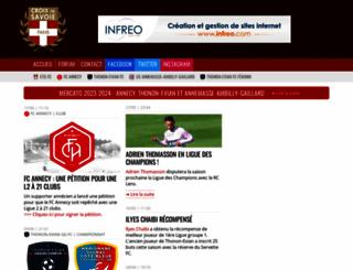 croixdesavoiefans.net screenshot