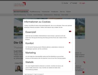 cronbank.de screenshot