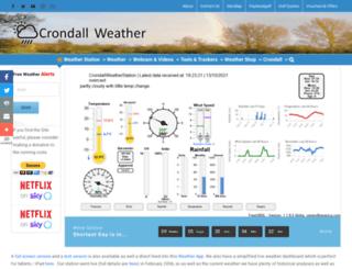 crondallweather.co.uk screenshot