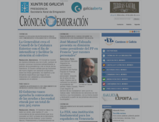 cronicasdelaemigracion.com screenshot