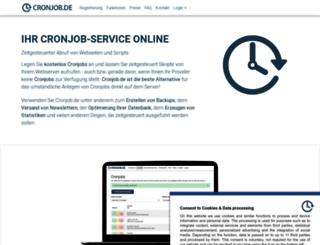 cronjob.de screenshot