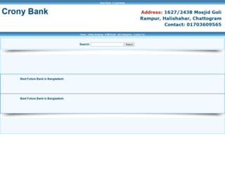 cronybank.com screenshot