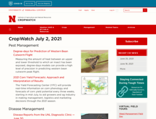 cropwatch.unl.edu screenshot