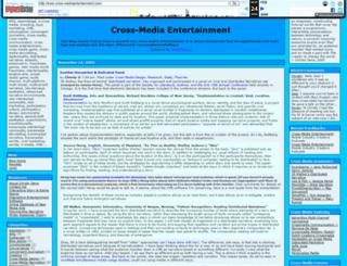 cross-mediaentertainment.com screenshot