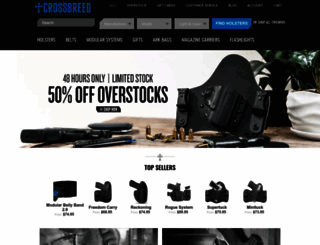 crossbreedholsters.com screenshot