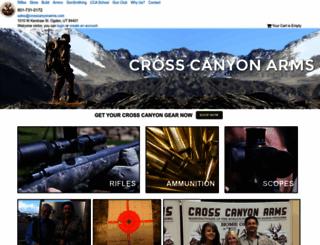 crosscanyonarms.com screenshot