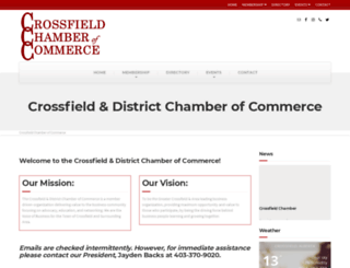 crossfieldchamber.org screenshot
